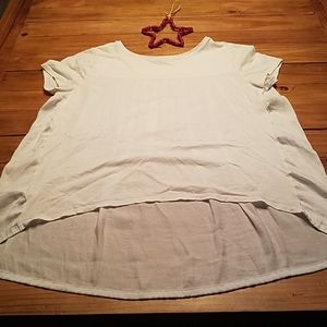 Loft blouse, short sleeve